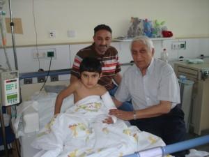 Masood aus Afghanistan nach seiner Operation im Marienkrankenhaus Neuwied