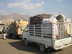 2009 Winterhilfe, Transport der Hilfsgüter