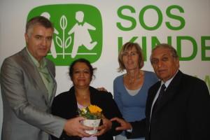 2010 München, Treffen mit Stellvertretern von SOS Kinderdorf